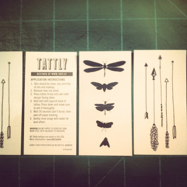 Hey peeps! I am going to be giving away 10 sets of my @tattly temporary tattoos to 10 lucky people in the audience for my talk on Friday. I will be tossing them to ya like Oprah giving away trips to Disney. You get a tattoo! You get a tattoo!  And you get a tattoo for being awesome!  Come hear and see me talk about COLOR this Friday, Sept. 26, at Center Stage! @Baltimore_CM #cmbal #color #CreativeMornings #baltimore #ColorsThatInspire #tattly #bugs #arrows