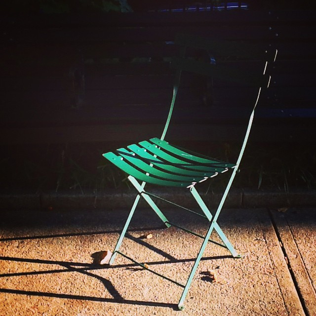 Light and shadow this evening caught my eye in the West Park of Mount Vernon Place as the setting sun washed this brilliant green folding chair with light. Sometimes all we need to have for us to see how great a color is is the right moment of lighting! @Baltimore_CM @mountvernonplace #cmbal #color #CreativeMornings #baltimore #ColorsThatInspire