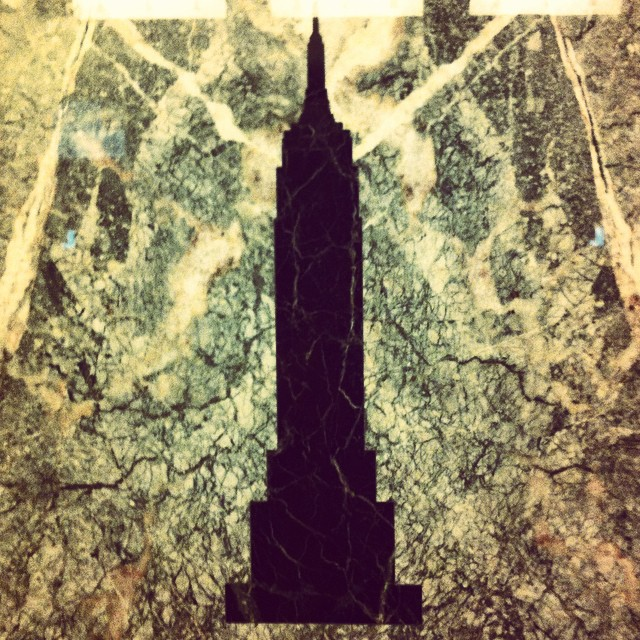 I've swooned over the simplicity and beauty of this marble inlay in the elevators at the #EmpireState  building every time that I have been here.  #designNerd #creativemorning #CMsummit14 #cmbal